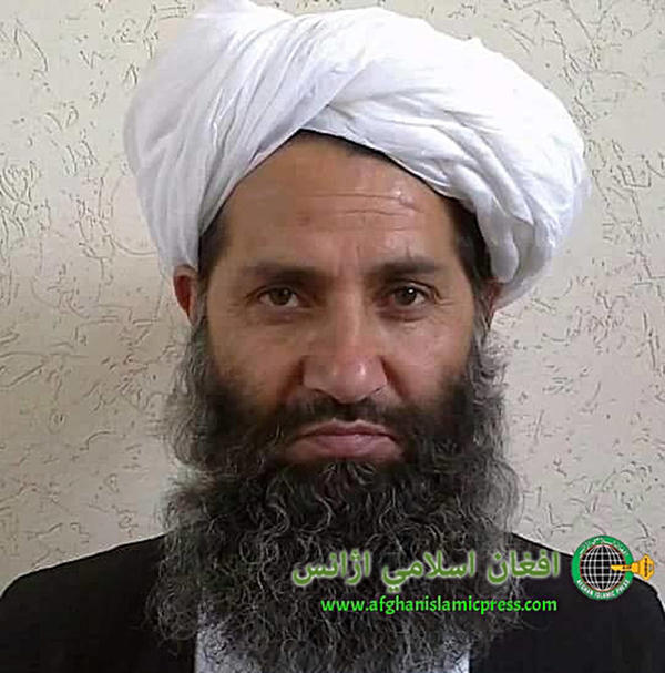 In this undated and unknown location photo, the new Taliban leader, Mullah Haibatullah Akhundzada, poses for a portrait.