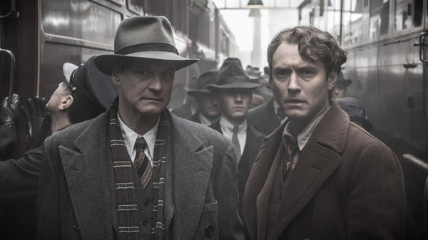 Max Perkins (Colin Firth) and Thomas Wolfe (Jude Law) in the new film <em>Genius.</em>