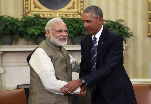 President Barack Obama meets with Prime Minister Narendra Modi of India in the Oval Office at the White House on June 7, 2016 in Washington, DC. Modi will address a joint meeting of Congress on Wednesday. (Dennis Brack-Pool/Getty Images)