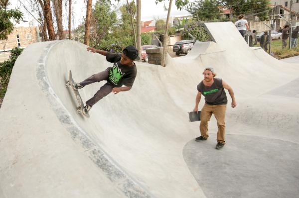 The skate park opened in April.