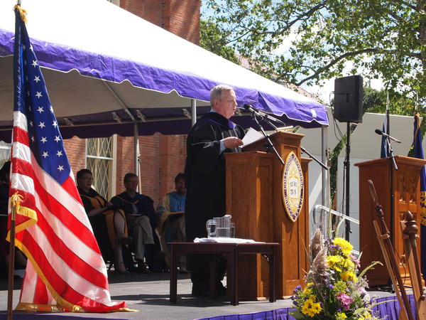 U.S. Senator Dick Durbin (D-IL) tells the Knox College Class of 2016 to use their college degrees to create positive change in the world.