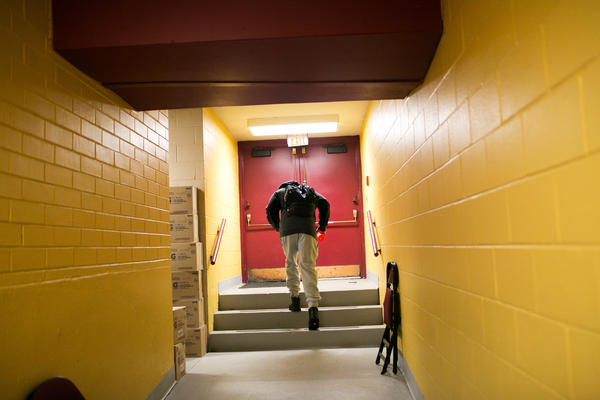 A player for the Canton Charge leaves the Canton Memorial Civic Center after the team defeated the Iowa Energy on Feb. 16. After a slow start to the season, the Charge went all the way to the D-League playoffs.