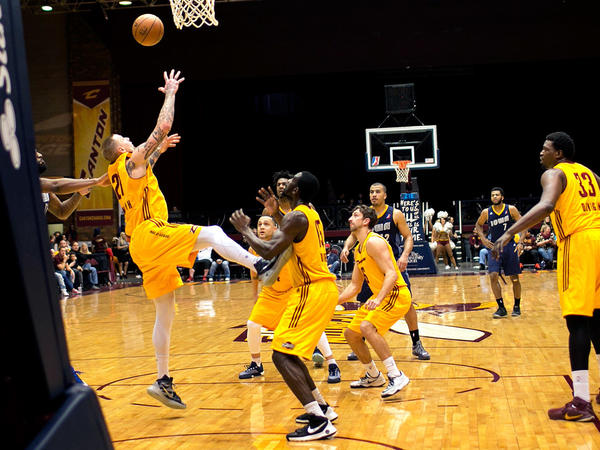 The Canton Charge play against the Iowa Energy in Canton, Ohio, on Feb. 16.