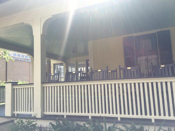 The front porch of Old Kentucky Home.