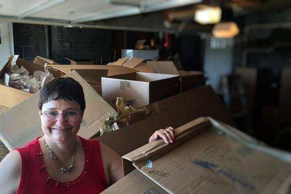 Noel Schulz took a break from unpacking the presidential mansion in Pullman to explain her new lean-in role at Washington State University as the new president's wife and an electrical engineering professor.