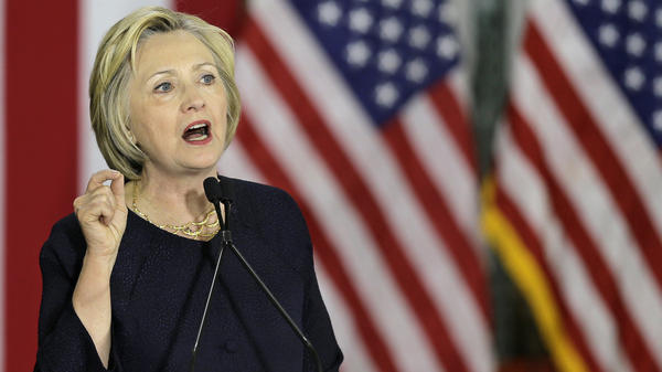 Democratic presidential candidate Hillary Clinton spoke at the Cleveland Industrial Innovation Center on Monday.