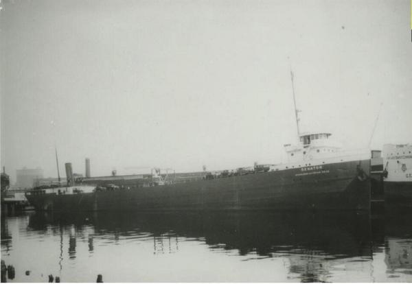 The SS Senator before it sunk into Lake Michigan, 15 miles from Port Washington, Wisconsin.