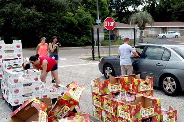 "Feeding Tampa Bay hands out food at Foster and dozens of other local schools where students and even teachers and staff are ""food insecure."""