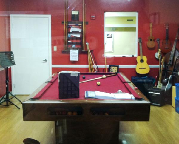 The joint music and billiards room.