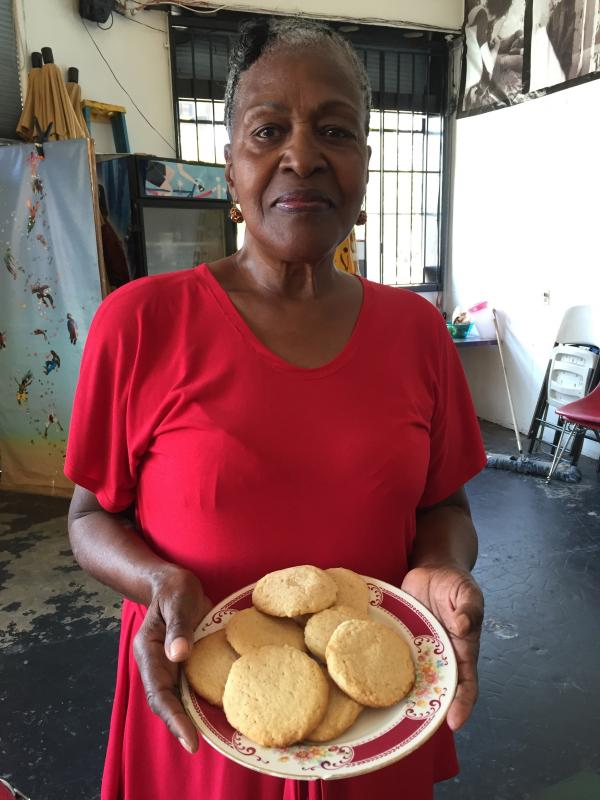 Former teacher Etha Robinson with her own tea cakes. She's hoping to revive the food that used to be a traditional treat in the African-American community.