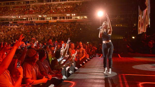 Maren Morris, one of Nashville's rising stars, performs at Nissan Stadium on the opening night of the 2016 CMA Festival.