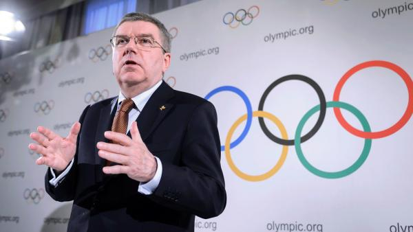 International Olympic Committee  President Thomas Bach says there's still a way Russian track athletes could compete in Rio this summer. He's seen here at a news conference in March.