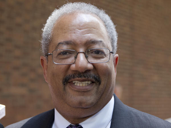 Rep. Chaka Fattah, D-Pa., leaves the federal courthouse Tuesday in Philadelphia after his conviction in a racketeering case involving efforts to repay an illegal $1 million campaign loan related to his unsuccessful 2007 mayoral bid.