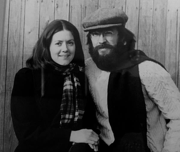 Dr. Dennis McCullough and his wife Pamela Harrison in the 1970s. The couple met when McCullough was attending Harvard Medical School; he would later bring his ideas about end-of-life care to the retirement community Kendal at Hanover in New Hampshire.