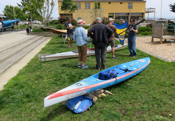This 17-foot paddleboard is Karl Kruger's chosen vessel to get him to Ketchikan in the Race to Alaska.