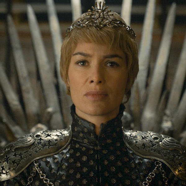 Judging from Cersei's (Lena Headey)'s expression, the Iron Throne could use some lumbar support.