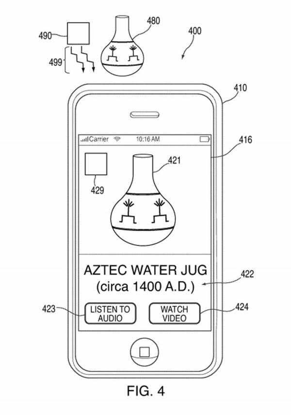 A drawing from Apple's new patent demonstrates its potential use in giving viewers more context.