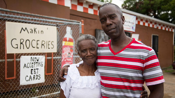 Burnell Cotlon, 48, visited StoryCorps in New Orleans with his mother, Lillie. Before he opened his store the area had gone nine years without a grocery store.