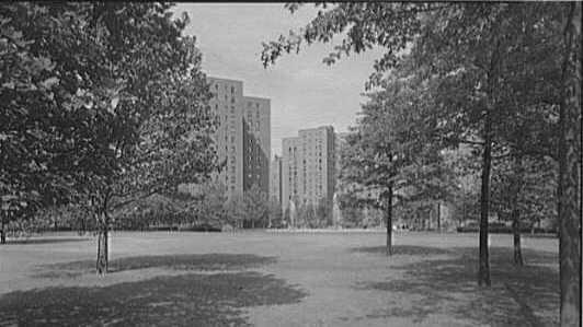 Manhattan's Stuyvesant Town housing complex, in 1951.