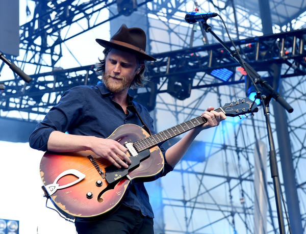 "Wesley Schultz, lead singer of The Lumineers, performs at California's Irvine Meadows Amphitheater on May 14. The band started working with Yondr to create a ""phone-free zone"" at its concerts."