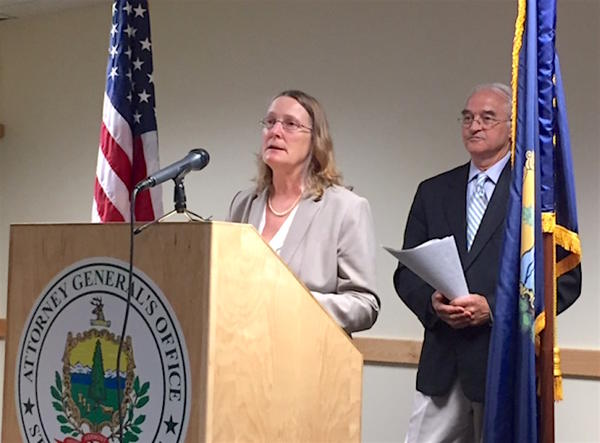 On Thursday, Human Rights Commission Executive Director Karen Richards, left, and Attorney General Bill Sorrell announced a new public education campaign to fight gender-based pricing in Vermont.