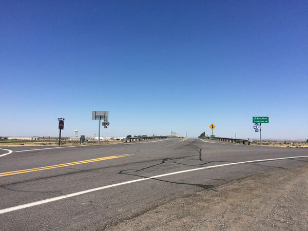 This freeway interchange near Hermiston, Oregon, is on a list for possible upgrades if a transportation package is approved.