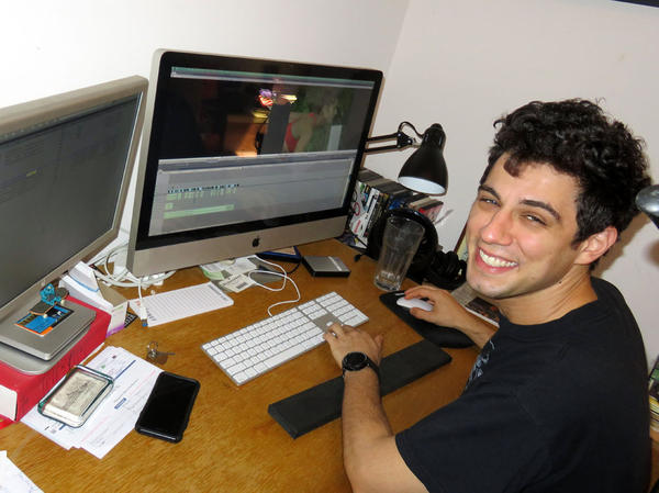 Filmmaker Jeremy Teicher now editing a new project at home in South Eugene.