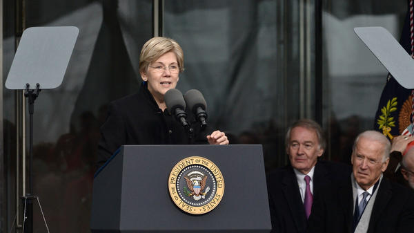 Sen. Elizabeth Warren speaks at the dedication ceremony for the Edward M. Kennedy Institute for the United States Senate in 2015.