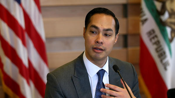 Housing and Urban Development Secretary Julian Castro speaks during a roundtable discussion in April.