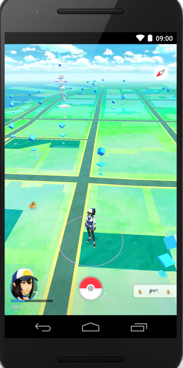 A screenshot from <em>Pokemon GO</em>.