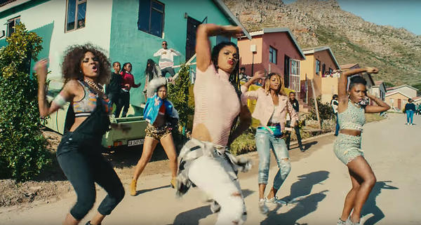 Dancers are part of the #WhatIReallyReallyWant music video.