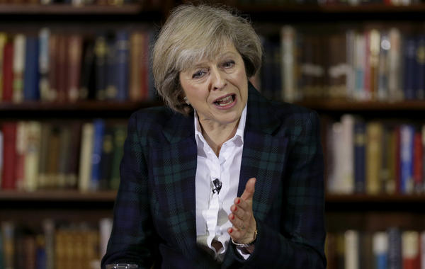 Theresa May, Britain's home secretary and a member of the Conservative Party, is poised to become the new prime minister this week. She favors keeping Britain in the European Union, but says she accepts the will of voters who opted to leave the EU in a June 23 referendum.