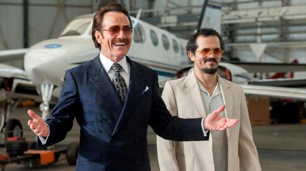 Robert Mazur (Bryan Cranston) and  Emir Abreu (John Leguizamo) in <em>The Infiltrator. </em>
