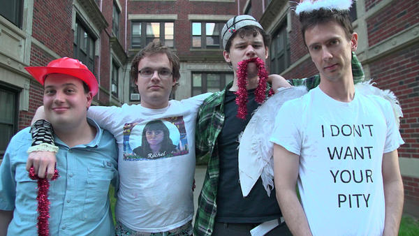 "Comedy troupe ""Asperger's Are Us."" From left: Ethan Finlan, New Michael Ingemi, Jack Hanke and Noah Britton."
