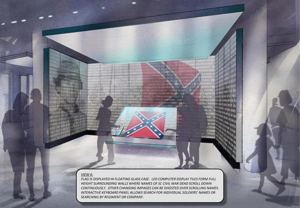 A mock up of a proposed plan for the display.