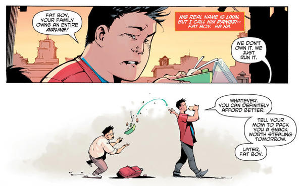 """Yang describes Kenan Kong as """"kind of a jerk,"""" whose powers change him morally and physically."""