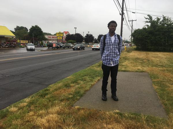 Of course, Rauth is not alone in his quest. Fellow pedestrian Jaelin McKenzie walks a mile to and from his job in Milford. He says the town desperately needs a real sidewalk.