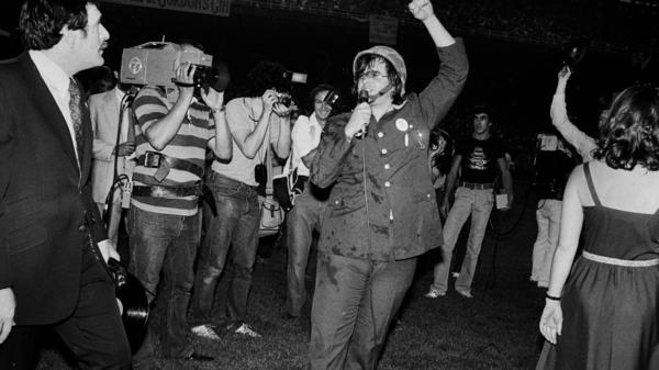 In 1979, rock DJ Steve Dahl donned a combat helmet to blow up a crate of disco records, a stunt now known as Disco Demolition.