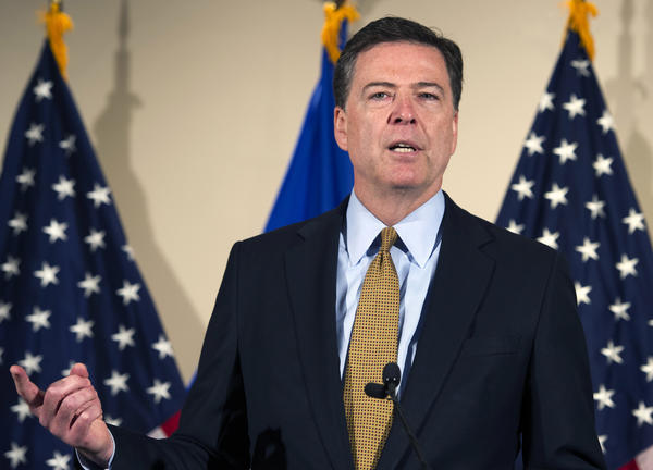 FBI Director James Comey makes a statement at FBI headquarters in Washington on July 5 about the FBI's investigation into Hillary Clinton's use of a private email server while secretary of state.