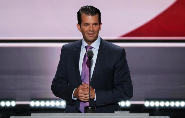 Donald Trump Jr. received a standing ovation for his speech — part policy, part personal.