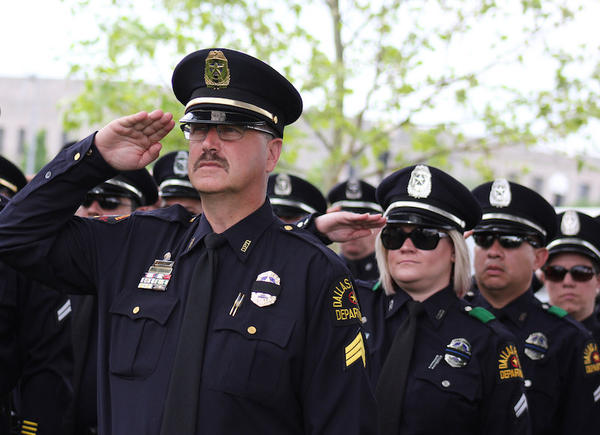 Dallas PD at an officer memorial in Washington , D.C. in 2014.