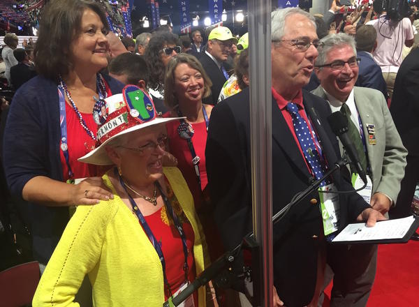 Members of the Vermont delegation moments before announcing their formal votes Tuesday night at the Republican National Convention in Cleveland. The final vote: 13 for Donald Trump, one for Gov. John Kasich, two for Sen. Rand Paul.