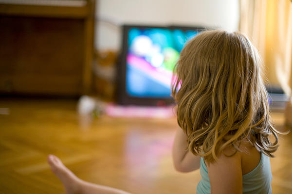 Earlier studies have found that children who grow up in houses with a TV on many hours a day learn fewer words than children in households with less TV time.