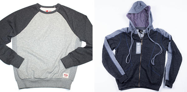 <strong>Allowed:</strong> Crew necks in subtle colors. <strong>Not Allowed:</strong> Hoodies.