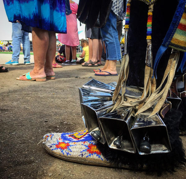 Hundreds of drummers and dancers were in North Idaho for the powwow. They were dressed in vibrant costumes covered in fathers and made from animal skins. Many of the dancers also wore strings of bells around their ankles.