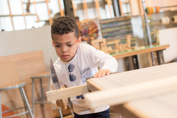 "Makeshop at the <a href=""https://pittsburghkids.org/exhibits/makeshop"">Children's Museum of Pittsburgh</a>."