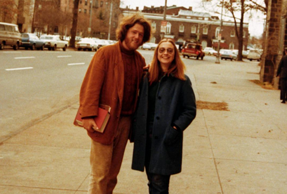 Hillary Clinton (right) with Bill Clinton in New Haven, Conn., in 1972 - the same year she campaigned for George McGovern's presidential campaign.