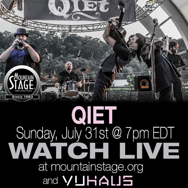 Charleston's Qiet will make their Mountain Stage debut on Sunday, July 31.
