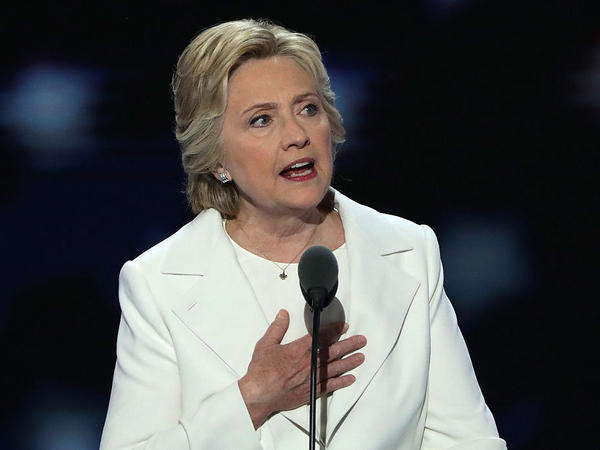 Hillary Clinton delivers an acceptance speech framing herself as a workhorse on the last day of the Democratic National Convention in Philadelphia on July 28.