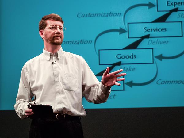 Joseph Pine speaking at TED.